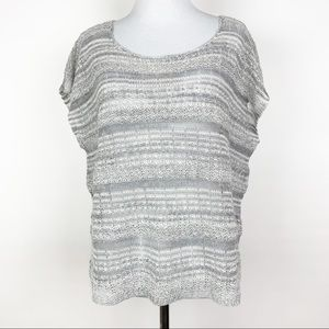 Eileen Fisher Linen Box Knit Sweater Top